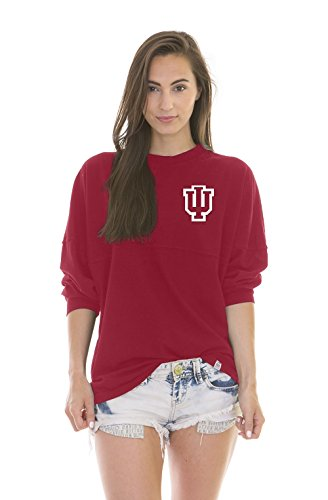 NCAA Indiana Hoosiers Women's Jade Long Sleeve Football Jersey, Cardinal Red, X-Small 1 Cardinal Replica Football Jersey