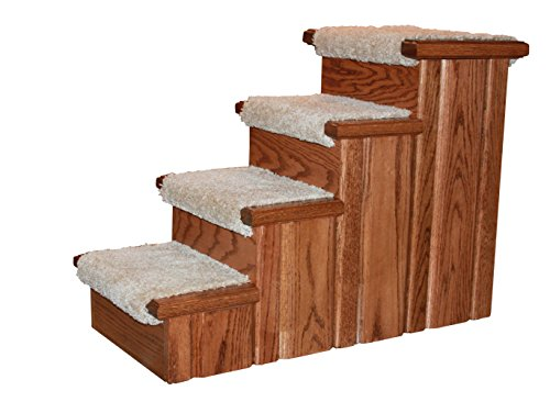 Premier Pet Steps 23-Inch Tall Solid Red Oak Raised, used for sale  Delivered anywhere in Canada
