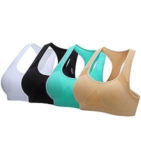 Women's Sports Bras Seamless Racerback Fitness Workout Yoga Bra