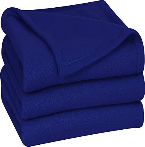 Polar Fleece Premium Bed Blanket Pack of 10 - Extra Soft Bru