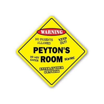PEYTON\'S ROOM Sticker Sign kids bedroom decor door children\'s name boy girl gift - Sticker Graphic Personalized Custom Sticker Graphic: Baby [5Bkhe0503542]
