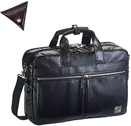メンズ ブリーフケース ショルダー付き 2way ビジネスバッグ と [BLANZAY 本革高級コインケース]のセット BH26555