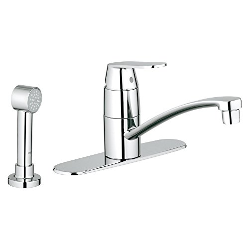 America Lever Kitchen Single Faucet (Eurosmart Cosmopolitan Single-Handle Kitchen Faucet With Side Spray and Escutcheon)
