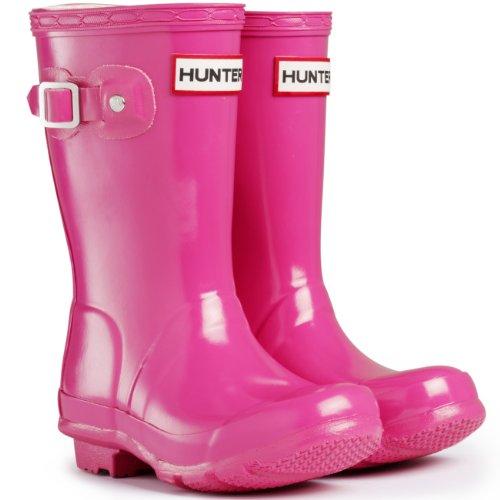 Unisex Kids Hunter Boots Kids Original Gloss Snow Boots Rain Water Boots - Fhia - 4G/3B (Kids Original Gloss Rain Boots)