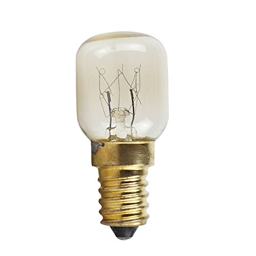 Aoile Appliance Oven Refrigerator Bulbs, Appliance Light Bulb, 300Degree High Temperature Resistant Microwave Oven Bulb, Brass lamp Holder ()