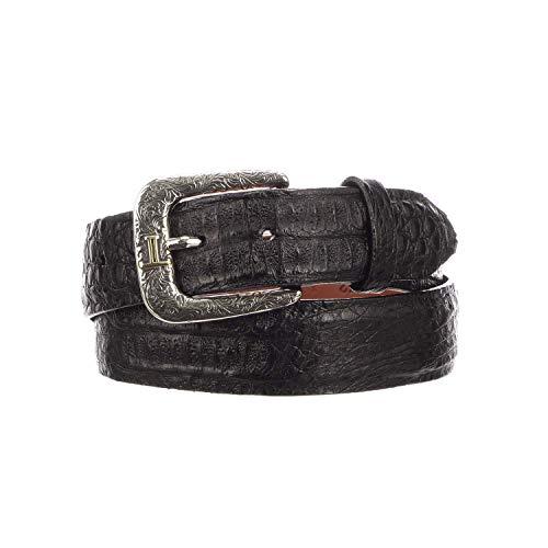 Lucchese Men's W9321 Black Hornback Caiman Crocodile Casual Western ()