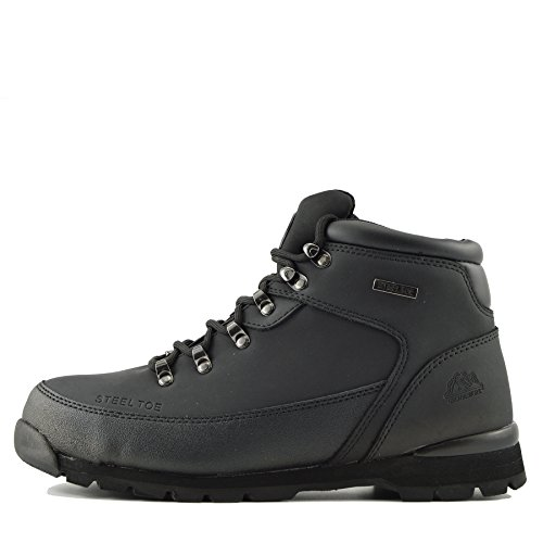 Kick Footwear - Kick Schuhe Herren Groundwork Steel Toe-Sicherheitsschuhe Schwarz