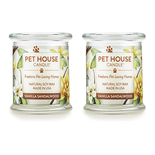 (One Fur All 100% Natural Soy Wax Candle, 20 Fragrances - Pet Odor Eliminator, Up to 60 hrs Burn Time, Non-Toxic, Reusable Glass Jar Scented Candles - Pet House Candle,)