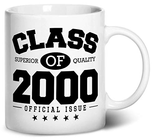 2000 Ceramic Mug - Tenacitee Class of 2000 Coffee Mug, 11oz, White