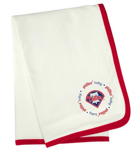 Baby Fanatic Philadelphia Phillies Receiving Blanket, 24 x 36-inch by Baby Fanatic