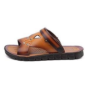MTENG Big Size Sandals Men's British Fashion Cool Breathable Beach Shoes Leisure Shoes (40-44)