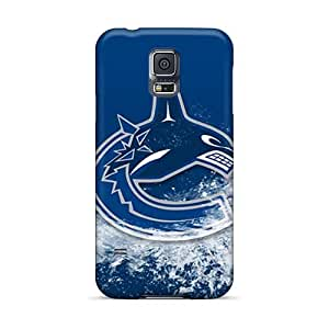 Bumper Hard Phone Covers For Samsung Galaxy S5 (kkM14447BWjw) Customized Vivid Vancouver Canucks Pattern