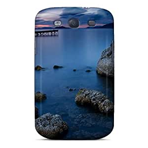 SKTrahan SFpveUS3032XLJWw Protective Case For Galaxy S3(water Landscapes Rocks Pier Lakes Hdr Photography)