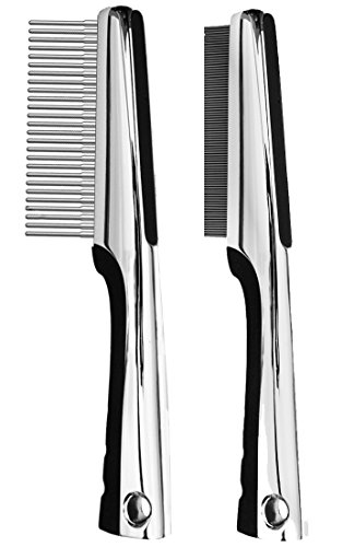 Resco Premium Rotating Pin and Flea Comb Set by Resco