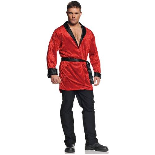 Red Jacket Costume (Underwraps Men's Smoking Jacket, Red/Black, One Size)