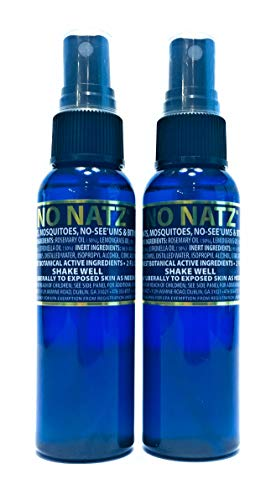 No Natz Insect, Gnat and Mosquito Repellent Bug Spray, DEET Free, 2 oz - 2 Pack