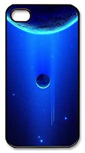 iphone 4 case custom made covers Skyviews planet 6 PC Black for Apple iPhone 4/4S