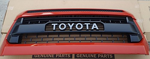 OEM TOYOTA TUNDRA NEW RETRO GRILLE WITH HOOD BULGE 53100-0C260-E0 TRD ORANGE 4X0 76180-0C030-E1