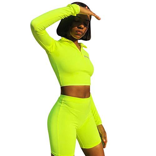 Sttech1 Women Zip Short Sleeve Workout Tracksuit Sweater Pants Sets Shorts Sports Suit