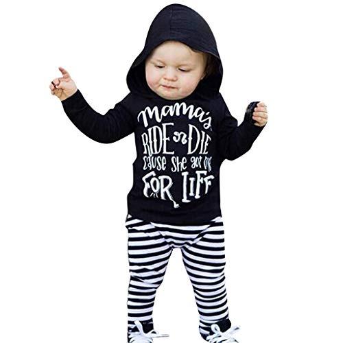 Baby Boys one-Piece Rompers Clothing Sets Bodysuits Girls Footies Sleepwear Clothes Set Newborn boy Unisex for Black18-24 ()