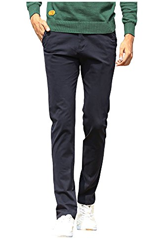 Boys Dress Twill Pant (Mintsnow Men's Straight-Fit Flat-Front Pant Navy,)