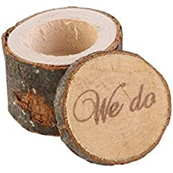 Tinksky Wedding Ring Box , Wedding Ring Bearer , Rustic Ring Box ,Wooden Printed We Do