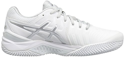 ASICS Damen Gel-Resolution 7 Sandplatz Tennisschuh Weißsilber