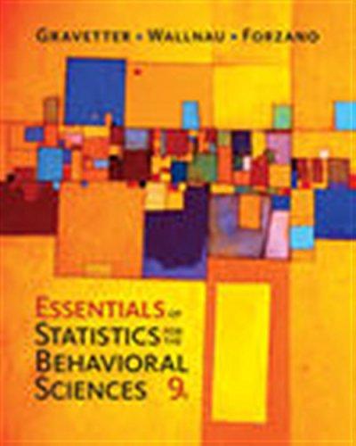Essentials of Statistics for The Behavioral Sciences (Essentials Of Statistics For The Behavioral Sciences)