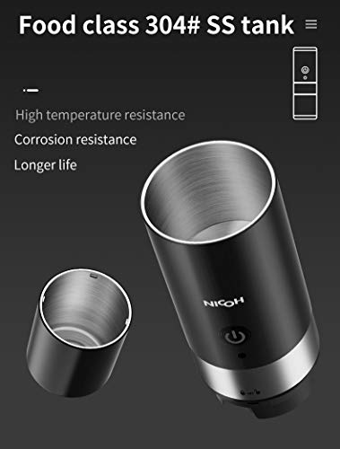 Nicoh One-Touch Travel Coffee Maker with Insulated Stainless Steel Cup (Compatible with K-CUP Capsule, Black)