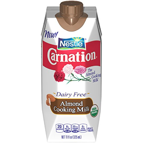 Nestle Carnation Almond Cooking Milk – USDA Organic Milk Substitute for Sweet and Savory Recipes, Rich and Delicious Organic Almond Milk, 11 Ounce (Almond Milk Baking)