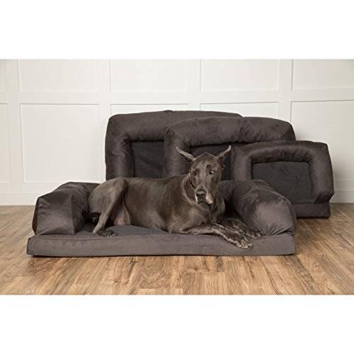 Hidden Valley Baxter Orthopedic Dog Bed and Couch (Small to Extra Extra-Large) Grey Extra Large by Hidden Valley
