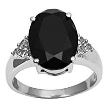 Banithani Black Onyx Stone 925 Sterling Silver Women Fashion Ring Band Jewelry For Her