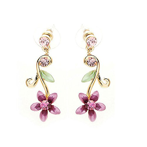 Glamorousky Earrings Austrian Element Crystals