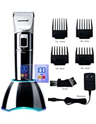 DEERCON Cordless Hair Clippers for Men Beard Trimmer...