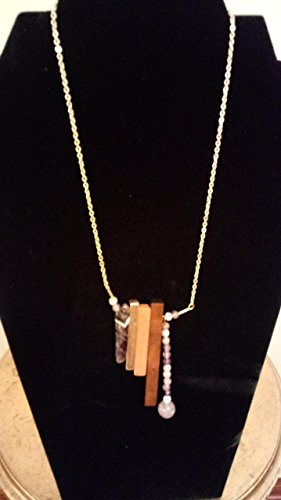 Amethyst and Rose Wood Necklace