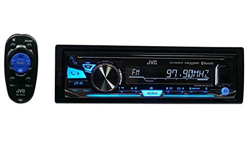 Package: JVC KD-X330BTS Single-Din Digital Media Receiver with Bluetooth + Trisonic 6 Foot 3.5'' P-Text 24/48 Aux Input Wire