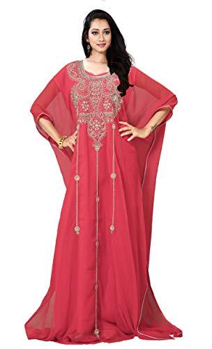 KoC Women's Kaftan Maxi Dress Farasha Caftan KFTN132-Coral ()