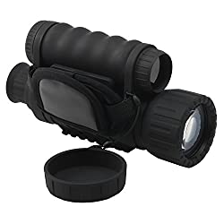 Guomu Digital Infrared Night Vision Monocular 6X 50 mm Takes 5mp Photo & 720p Video from 385 yards/1150 ft Distance in Complete Darkness for Night Hunting/Fishing