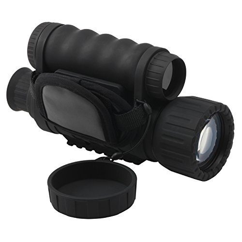 Bestguarder Digital Night Vision Monocular Scope 6x50mm Infrared HD Camera Takes 5mp Photo 720p Video up to 350m/1150ft Detection Distance with 1.5 inch TFT LCD by Bestguarder
