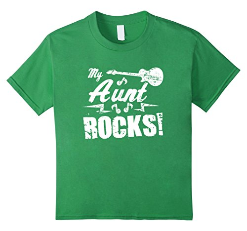 Kids My Aunt Rocks T Shirt - Guitar Rock n Roll Funny Tee...