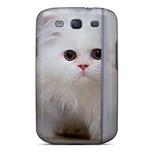 New Snap-on MiMorton Skin Case Cover Compatible With Galaxy S3- Cute White Cat
