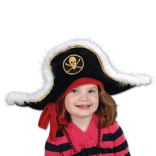 Plush Pirate Captains Hat Accessory