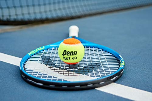 Penn QST 60 Tennis Balls - Youth Felt Orange Tennis Balls for Beginners