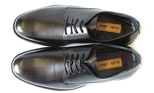 Newdelli Aldo Mens Stringate Scarpe Stringate In Pelle Oxfords Tonde-m19170 / Nero