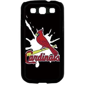 MLB Major League Baseball St. Louis Cardinals Logo Samsung Galaxy S3 SIII I9300 TPU Soft Black or White case (Black)