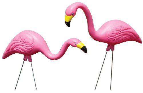 Bloem Pink Flamingo Garden Yard Statue 10-Pack (G21) by Bloem