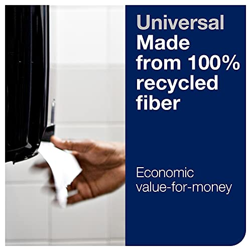 Tork Matic Hand Towel Roll, White, Universal, H1, 100% Recycled Fiber, High Absorbency, High Capacity, 1-Ply, 6 Rolls x 700 ft - 290089