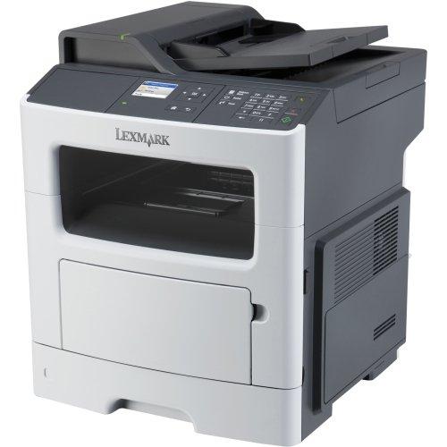 "Lexmark Mx410de Laser Multifunction Printer . Monochrome . Plain Paper Print . Desktop . Copier/Fax/Printer/Scanner . 40 Ppm Mono Print . 1200 X 1200 Dpi Print . 40 Cpm Mono Copy . Touchscreen . 1200 Dpi Optical Scan . Automatic Duplex Print . 300 Sheets Input . Gigabit Ethernet . Usb ""Product Type: Printers/Multifunction Printers"""