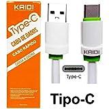 Cabo De Carregamento E Dados Celular Usb Tipo-C Carga Rápida 1Mt Kaidi KD-TC30
