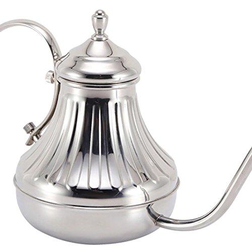 Acquisto Elegantstunning – Caffettiera in acciaio INOX, da versare a mano con una pentola da tè da 650 ml Prezzi offerta